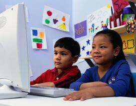 children on  a computer