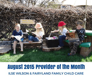 August 2015 Child Care Provider of the Month