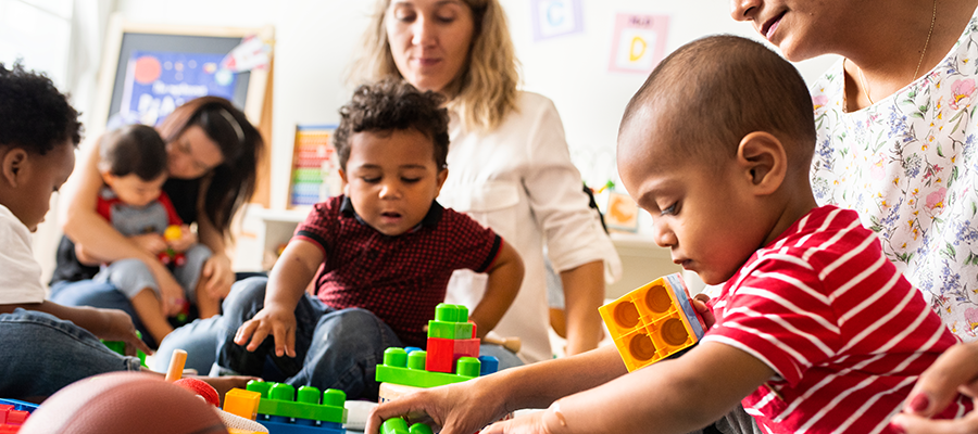 diverse child care center