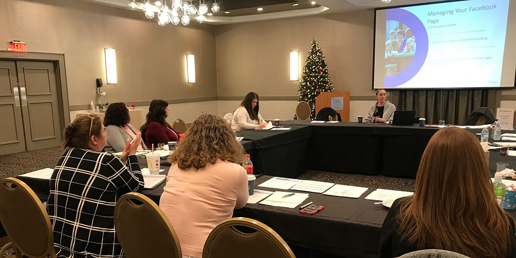 Professionals discuss social media and public relations with CCAOA