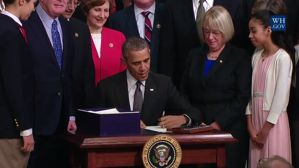 President Obama Signs Education Bill Into Law