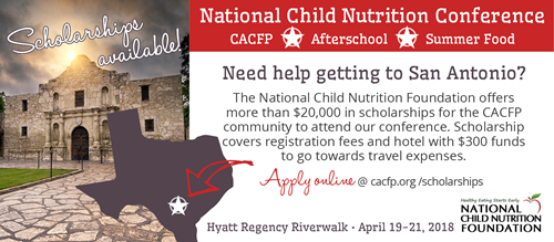 National Child Nutrition Conference — Scholarships Available