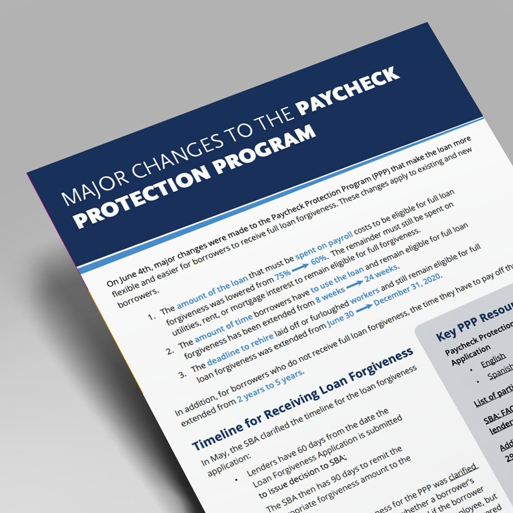 3 Major Changes to the Paycheck Protection Program